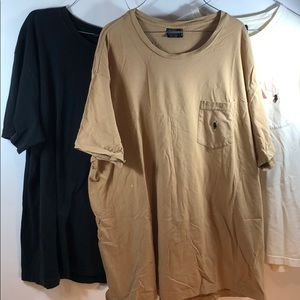 3 pcs Polo by Ralph Lauren Black Tan White Large